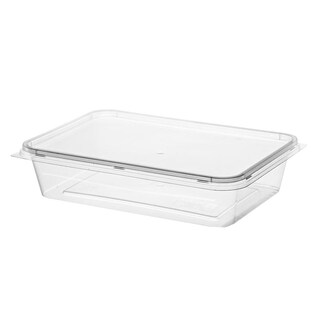 Plastic Container With Lid 500ml. (25/Pack) RW1490