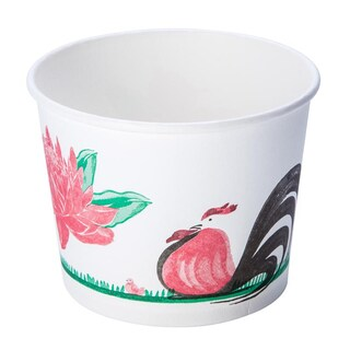 FEST PL005 520ml. White Paper Cup With Chicken Pattern 50/pack