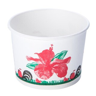 FEST PL006 260ml. White Paper Cup With Chicken Pattern 50/pack