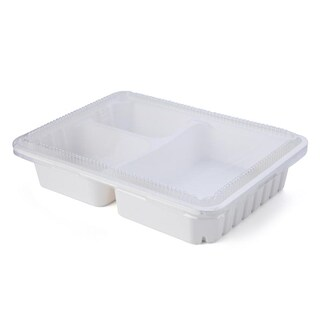 FEST HM003 3 Compartments Hybrid Fiber Box 1,000 ml. 25/pack