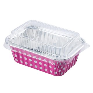 Aluminum Foil Cake Cup with Lid 9x2.6cm. (10/pack) S&S 4002