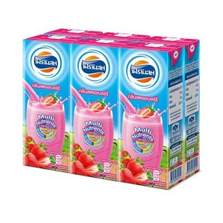 Foremost UHT Milk Strawberry 225ml. 6/Pack