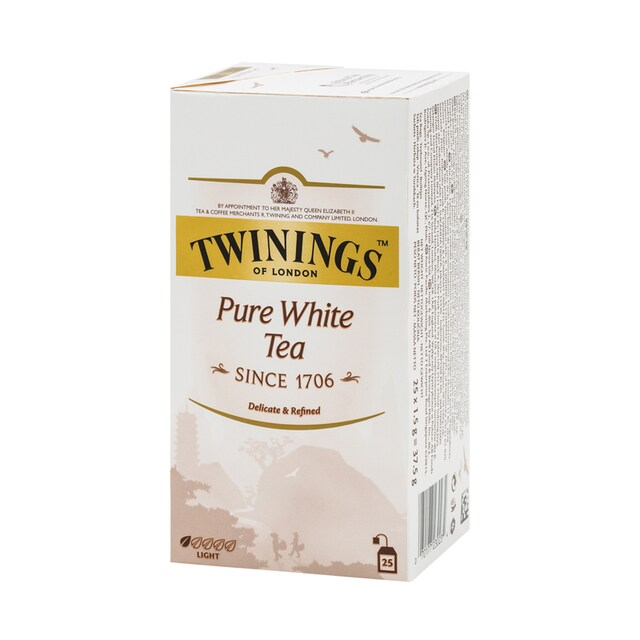 English Tea 1.5 g. (25/Box) Twinings Pure White Tea