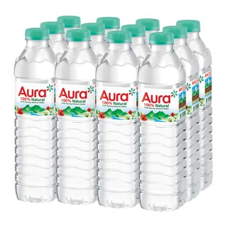 Mineral Spring Water 500 ml. (12/Pack) Aura