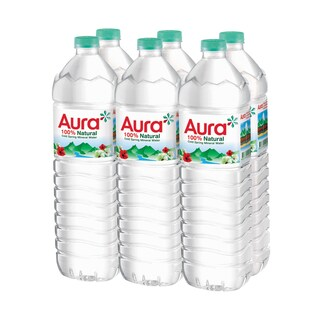 Mineral Spring Water 1500 ml. (6/Pack) Aura