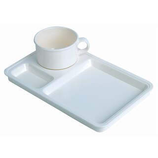 Plastic Plate Coffee Set (Cream) Basket 2561