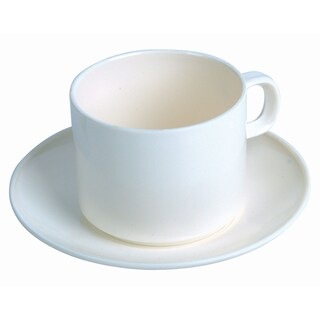 Plastic Plate Coffee Set (Cream) Basket 255+AS