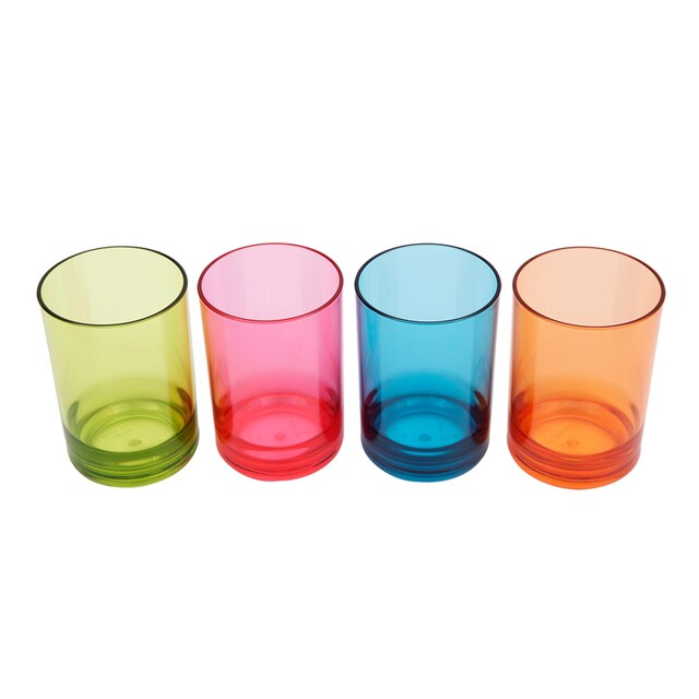 Tumbler 96 ml. (4/Pack) Asst. Colors Basket 265