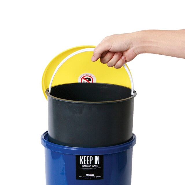 Step Trash Bin (10 Liters) Blue Standard RW9084