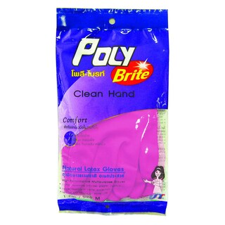 Medium-sized Poly-Brite Disposable Gloves โพลี-ไบรท์