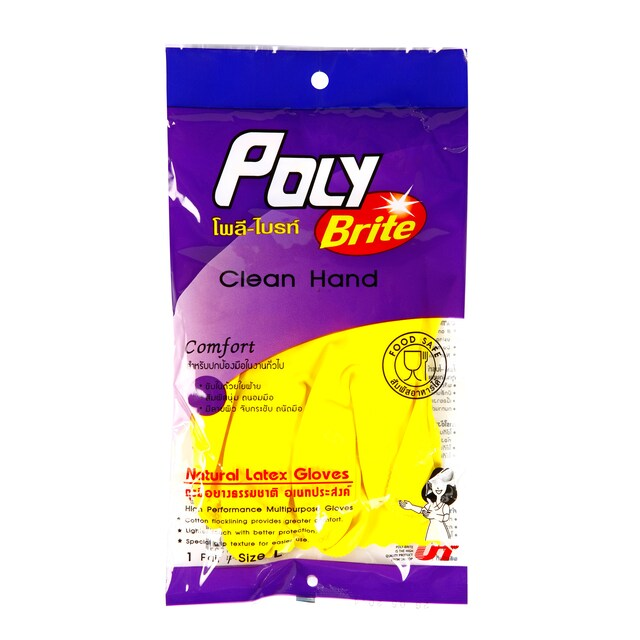 Large-sized Poly-Brite Disposable Gloves โพลี-ไบรท์