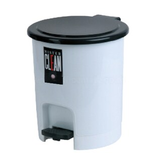 Step-Open Trash Bin Gray Basket 541