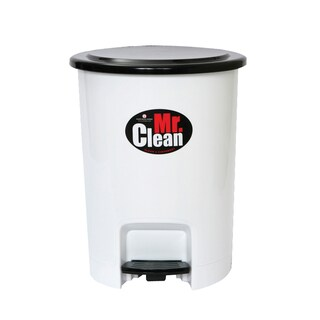 Step-Open Trash Bin White Basket 541