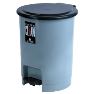 Step-Open Trash Bin Gray Basket 542