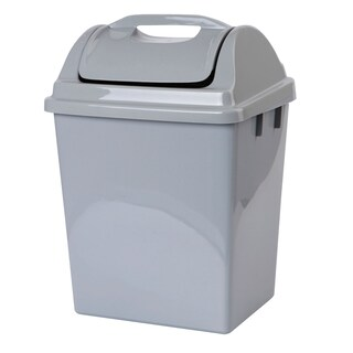 Trash Bin With Lid Gray 14.15 Liter Basket 523 DC
