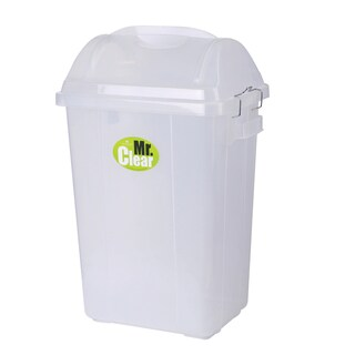 PP Trash Bin With Lid White (31.3 Liter) Basket 561 DC