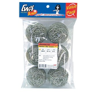 Stainless Scourer 25 g. (6/Pack) โพลี-ไบรท์