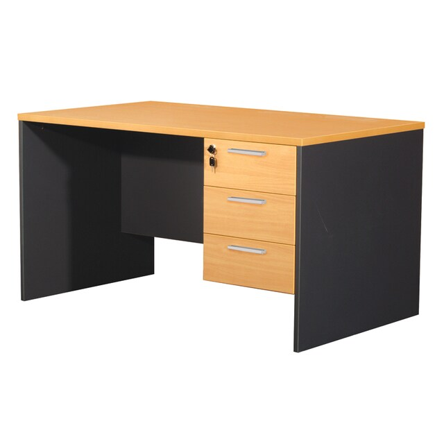 Furradec ST135DB Desk with Drawer Beech-Graphite