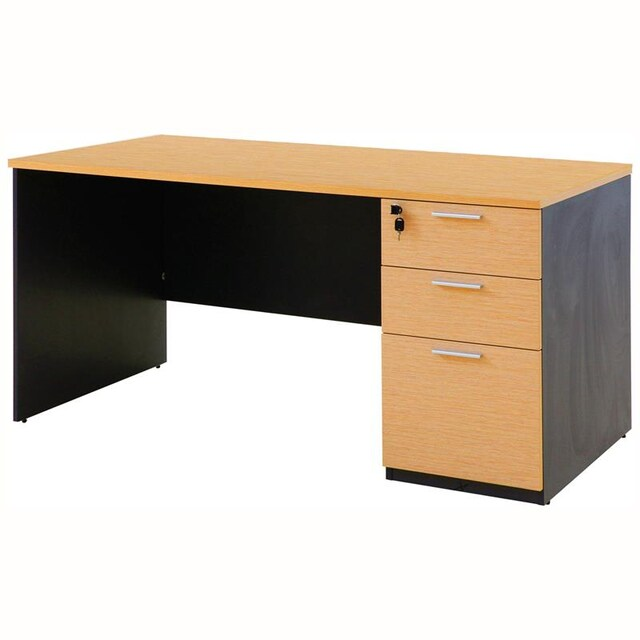 Furradec ST150PDC3 Desk with Drawer Beech-Graphite
