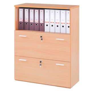 Furradec SC1290NEW Hanging File Cabinet 3 Drawers Beech