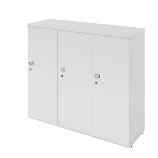 Furradec LK4310 Locker Cabinet 3 Doors Grey