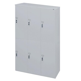 Furradec LK4620 Locker Cabinet 6 Doors Grey