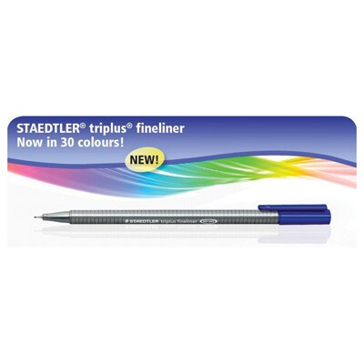 Staedtler Triplus 334-3 Needle Point Pen 0.3 mm. Blue Ink.