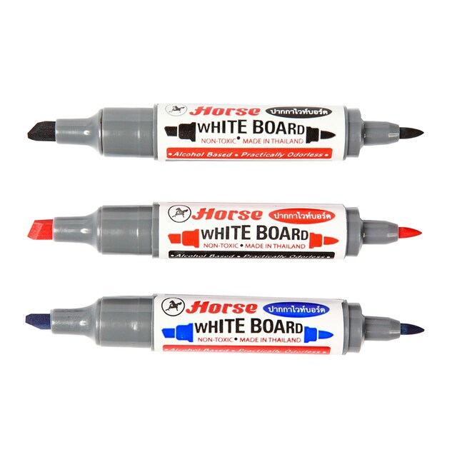Twin Tip Whiteboard Marker Colors. ตราม้า