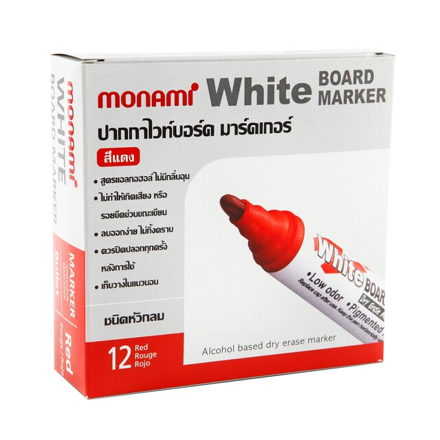 Whiteboard Marker (12/Pack) Red Monami BM500SRD18983A