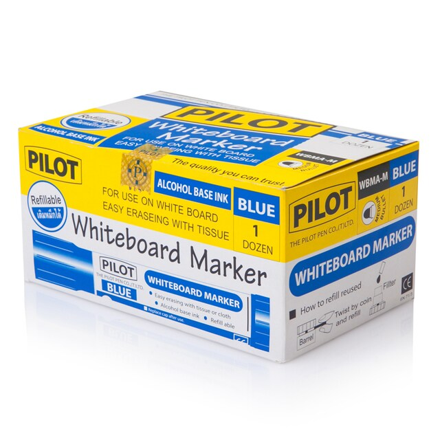 Whiteboard Marker 2.0 mm. (12/Pack) Blue Pilot WBMA-M