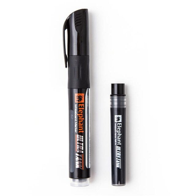 Elephant Ultra Tank Whiteboard Marker+Refill Ink 5mm. Black