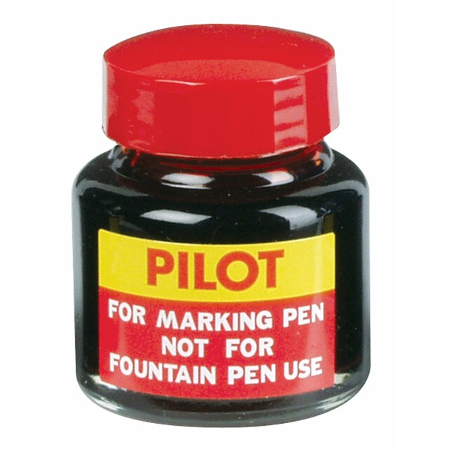 Pilot Marker Refill Ink. 30cc. Red Ink.