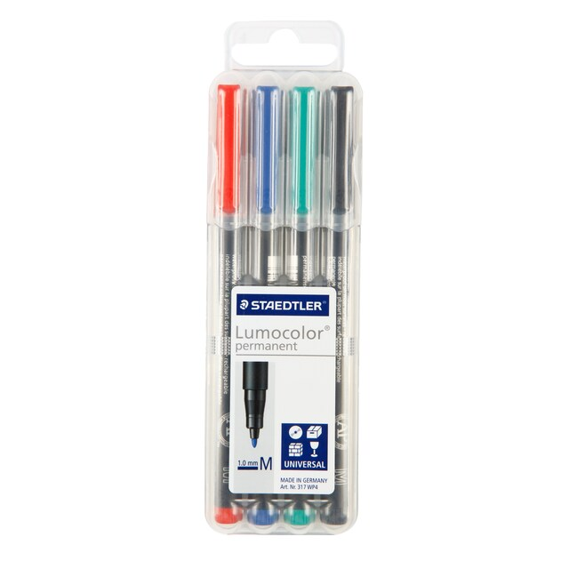 OHP Pen (4 Colors) (M) Staedtler 317-WP4