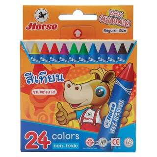 Horse Wax Crayons Middle 24/Box