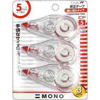 Correction Tape 5mm.x8m. (3/Pack) (CT-CF5) Tombow CT-CF