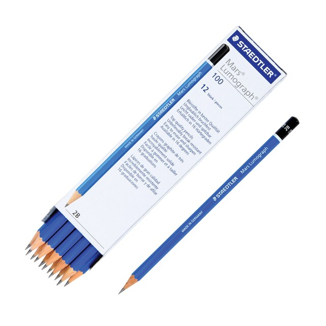 Drawing Pencil 2B (12/Box) 100 Staedtler Lumograph