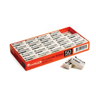 Pencil Eraser (50/box) White Quantum QE600-50