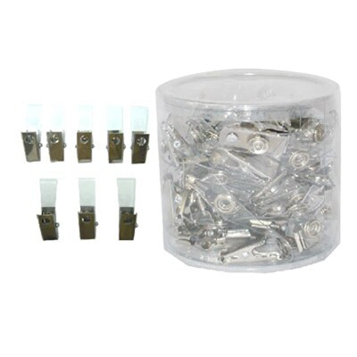Stainless Badge Clip (50/Pack) SAPPHIRE CA07-003