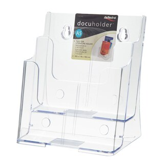 Brochure Stand 16.6x11.6x19.3 cm. 2 Level A5 Deflect-o 77221AS