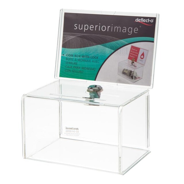 Suggestion Box 9.5x15.5x11 cm. Deflect-o 596901TL