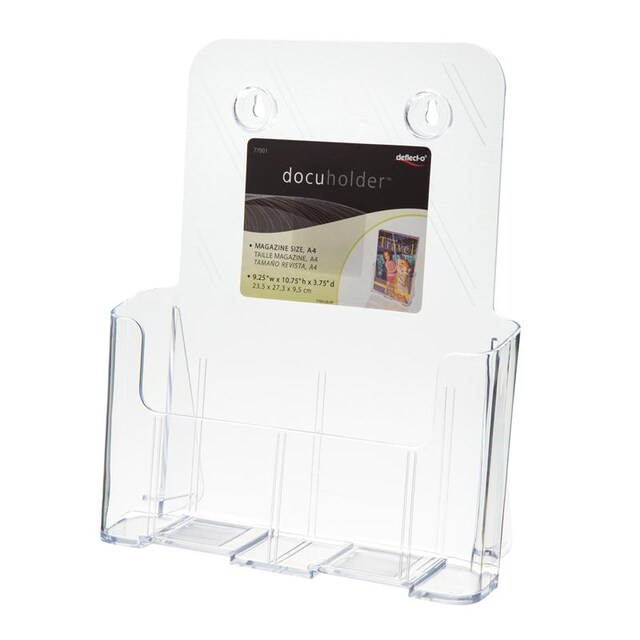 Brochure Stand 23.5x9.5x27.5 cm. 1 Level A4 Deflect-o 77001-TL