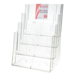 Brochure Holder 23.4x17x33.8 cm. A4 (4 Level) Echo 4C230D
