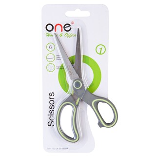 "Scissors 6"" Gray-Yellow ONE BR1"