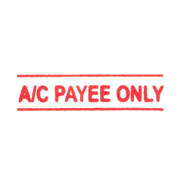 Pre-lnked Rubber Stamp A/C PAYEE ONLY ONE