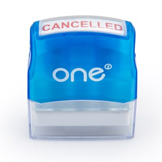 Pre-lnked Rubber Stamp CANCELLED ONE