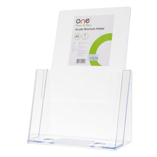 "Acrylic Brochure Holder A5 6.25x9.5"" ONE"