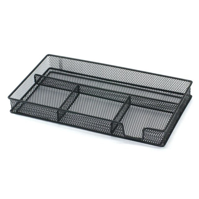 ONE H-8017 Multipurpose Steel Box with Divided Compartments Black