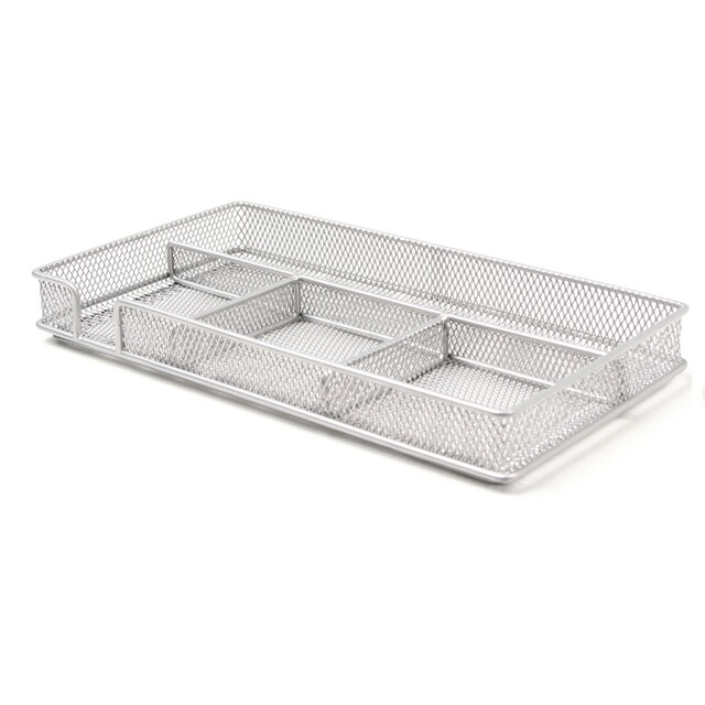 ONE H-8017 Multipurpose Steel Box with Divided Compartments Silver