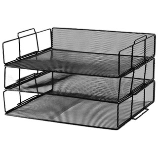3-Tier Document Tray Black ONE H-0931