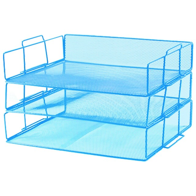 3-Tier Document Tray Blue ONE H-0931